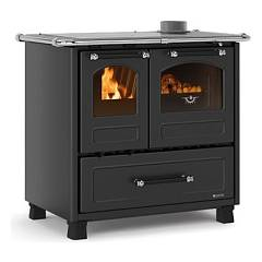 Nordica Family 4,5 Wood cooking hot air natural convection 7.5 kw anthracite black - porcelain steel coating
