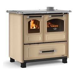 Nordica Family 4,5 Wood stove hot air natural convection 7.5 kw cappuccino - porcelain steel cladding