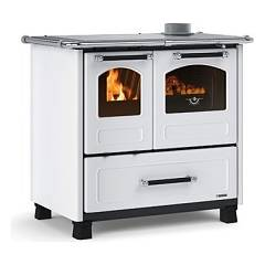 Nordica Family 4,5 Wood cooking hot air natural convection 7.5 kw white - porcelain steel cladding