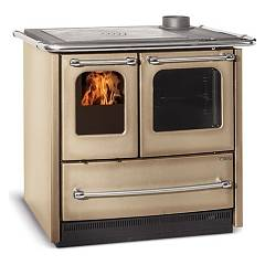 Nordica Sovrana Easy Evo Wood cooking hot air natural convection 9.0 kw cappuccino - porcelain steel coating