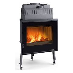 Nordica Focolare 70 Piano Evo Crystal Wood hearth cm. 70 natural convection hot air 9.0 kw