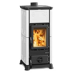 Extraflame Nordica Emiliana Wood stove hot air natural convection 6.5 kw - white infinity covering in majolica