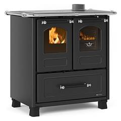 Extraflame Nordica Family 3,5 Wooden cooking hot air natural convection 7 kw - black anthracite steel covering