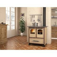 Photos 2: Extraflame Nordica FAMILY 3,5 Wooden cooking hot air natural convection 7 kw - white steel covering