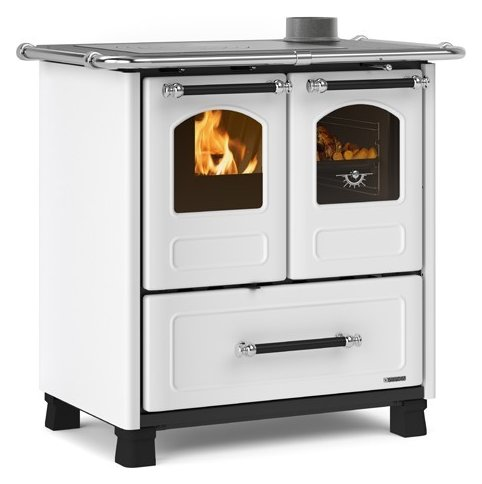 Photos 1: Extraflame Nordica FAMILY 3,5 Wooden cooking hot air natural convection 7 kw - white steel covering