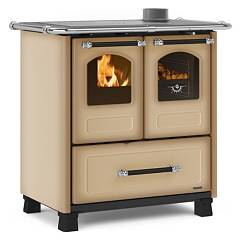 Extraflame Nordica Family 3,5 Kitchen wood hot air natural convection 7 kw - cappuccino steel covering