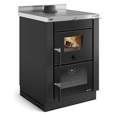 Extraflame Nordica Vicenza Evo Wood stove hot air natural convection 6.0 kw - anthracite steel cladding