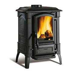 Nordica Giulietta X 4.0 6.5 kw cast iron wood stove - 186 m³ heated - anthracite black - entirely in enamelled cast iron