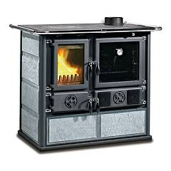 Nordica Rosa 4.0 - Pietra Naturale Wood stove 8.4 kw - 240 m³ heated - natural stone - natural stone cladding