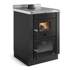 Nordica Vicenza Evo - Nero Antracite Wood stove 6.00 kw - 172 m³ heated - anthracite black - coating in crystal and enamelled steel