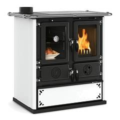 Nordica Rosetta Sinistra Steel Wood stove 7,3 kw - heated 209 m³ - white dotted