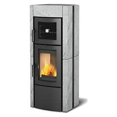 Nordica Ester Forno Evo Wood stove hot air natural convection 8.2 kw - natural stone cladding in natural stone