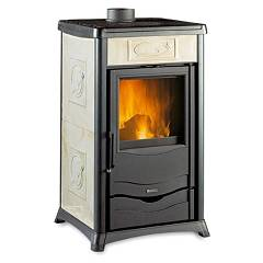 Nordica Rossella Plus Holzherd hot natural convection 8 kw - antike liberty parchment majolika-beschichtung