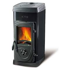 Nordica Super Junior Wood stove hot air natural convection 5 kw - black steel covering