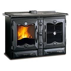 Nordica America Wooden cooking hot air natural convection 12 kw - black cast iron covering