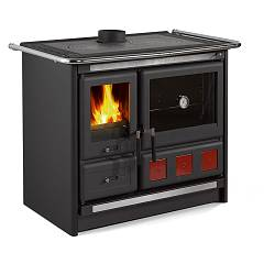 Nordica Rosa Xxl Wooden cooking hot air natural convection 9 kw - black anthracite steel covering
