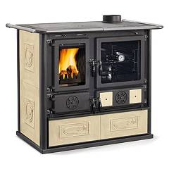Nordica Rosa Liberty Cuisson en bois air continu naturel 7 kw - antique liberty parchment revêtement majolique