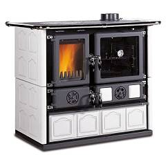 sale Nordica Rosa Maiolica Wood Stove Hot Air Natural Convection 7 Kw - White Infinity Tiled Coating