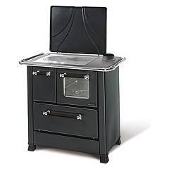 Nordica Romantica 4,5 Wooden cooking hot air natural convection 6 kw - black anthracite steel covering