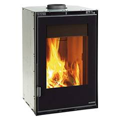 Nordica Verticale Crystal Ventilato 50 Insert wood-burning hot-air ventilated - 8 kw 50 cm. Inserti Crystal
