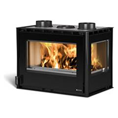 Nordica Crystal Angolo 70 Wooden insert hot air natural convection - 9 kw 70 cm.