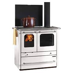 Nordica Sovrana Evo Wooden cooking hot air natural convection 9 kw - white steel covering