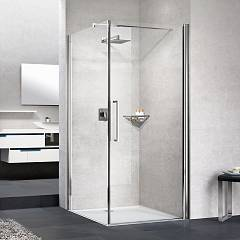 Novellini Young 2.0 G+f Corner box cm. 80 x 80 extensibility cm. 77 - 79 x 77 - 79 1 hinged door h 200 + fixed side