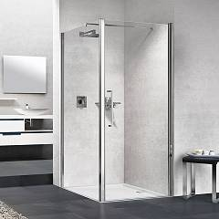 Novellini Young 2.0 1b Corner box cm. 80 x 80 extensibility cm. 78 - 82 x 77 - 79 1 hinged door h 200 + fixed side
