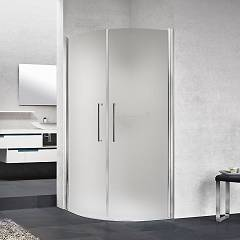 Novellini Young 2.0 R2 Lux Semicircular corner box cm. 100 x 100 extensibility 97.5 - 99.5 x 97.5 - 99.5 2 hinged doors h 200