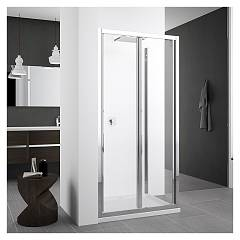 Novellini Zephyros S+f In/out Corner box cm. 100 x 80 extensibility cm. 96 - 102 x 78 - 81 1 bellow door h 195 safety opening + fixed side