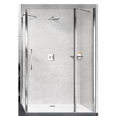 Novellini Basic Young 2p+f Corner box h 200 - 1 hinged door + fixed side