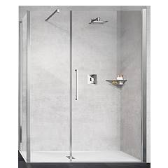 Novellini Basic Young G+f In Linea Corner box h 200 - 1 hinged door + fixed side