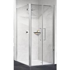 Novellini Young 2b+f Corner box h 200 - 2 hinged doors + fixed side
