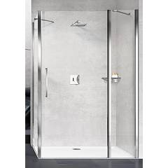 Novellini Young 2p+f Corner box h 200 - 1 hinged door + fixed side