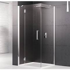 Novellini Louvre G+f Corner box cm. 90 x 120 extensibility 87.5 - 90.5 x 116.5 - 119.5 1 swing door h 195 + fixed side