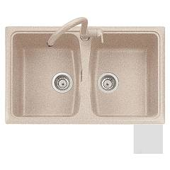 Outlet Plados Built-in sink cm. 79 x 50 - ultraquartz bianco sp0792 - space Spazio
