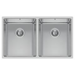 Elleci Square 720 2v R14 Stainless steel undermount sink 74.5 x 44 Square R14