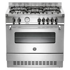 Outlet Bertazzoni Kitchen cm. 90 inox with gas oven master series a 90 5 gev xt Master