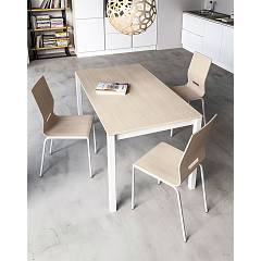 Photos 2: Outlet 08JOL140 Jolly Plus 140 Point house: extending table l. 140 x 80 aluminum gray structure - white melamine top