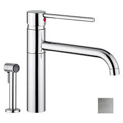 Outlet Armando Vicario Kitchen mixer with shower - brushed salt ss 400244 cs