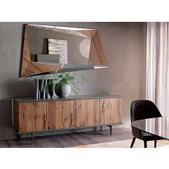 Ozzio X302 Brera Sideboard with four doors in wood l. 205 h. 75