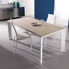 Ozzio T205 Metro Legno Extendible table - wood floor l. 160 x 85