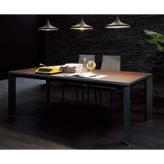 Ozzio T205 Metro Legno Extendible table - wooden top l. 180 x 90