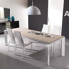 Ozzio T205 Metro Legno Extendible table - wooden top 200 x 100 l.