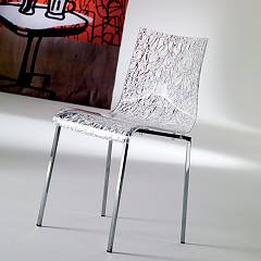 Ozzio S026 Smile Stackable chair in metal and plastic