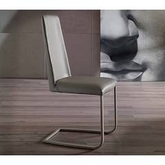 Ozzio S324 Jazz Closed chair in metal and leather