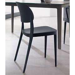 Ozzio S032 Mia Stackable chair in polypropylene