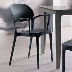 Ozzio S032 MIA BR Chair stackable polypropylene