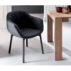 Ozzio S298 Nelson Swivel armchair upholstered in leather