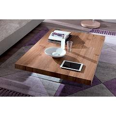 Ozzio T063 Markus Coffee table 2 heights l. 140 x 90 in open pore white wild oak